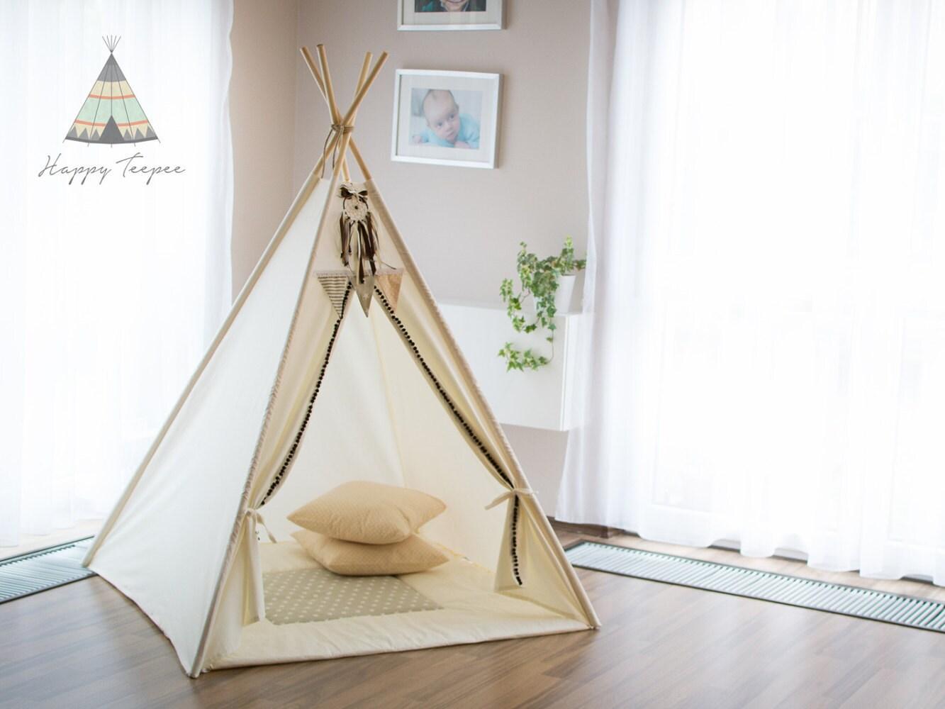 tipi indien fait la main enfants jouent tente tipi tipi etsy. Black Bedroom Furniture Sets. Home Design Ideas