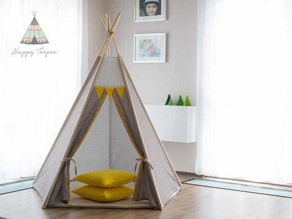 les enfants tipi petit indien tipi tipi pour enfants tente etsy. Black Bedroom Furniture Sets. Home Design Ideas