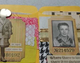 Set of 2 Altered Envelopes & Ephemera