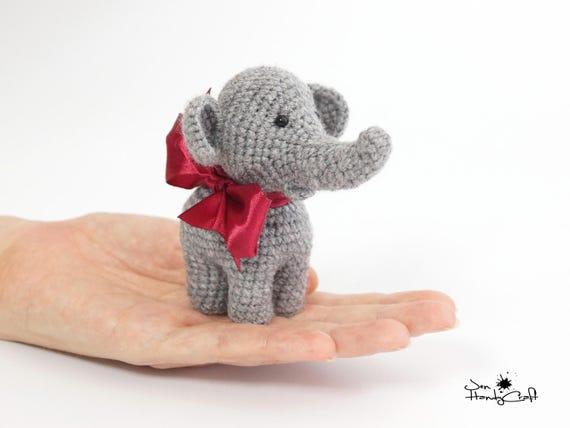Plush Elephant Toy Miniature Animal Stuffed Elephant Lover Etsy