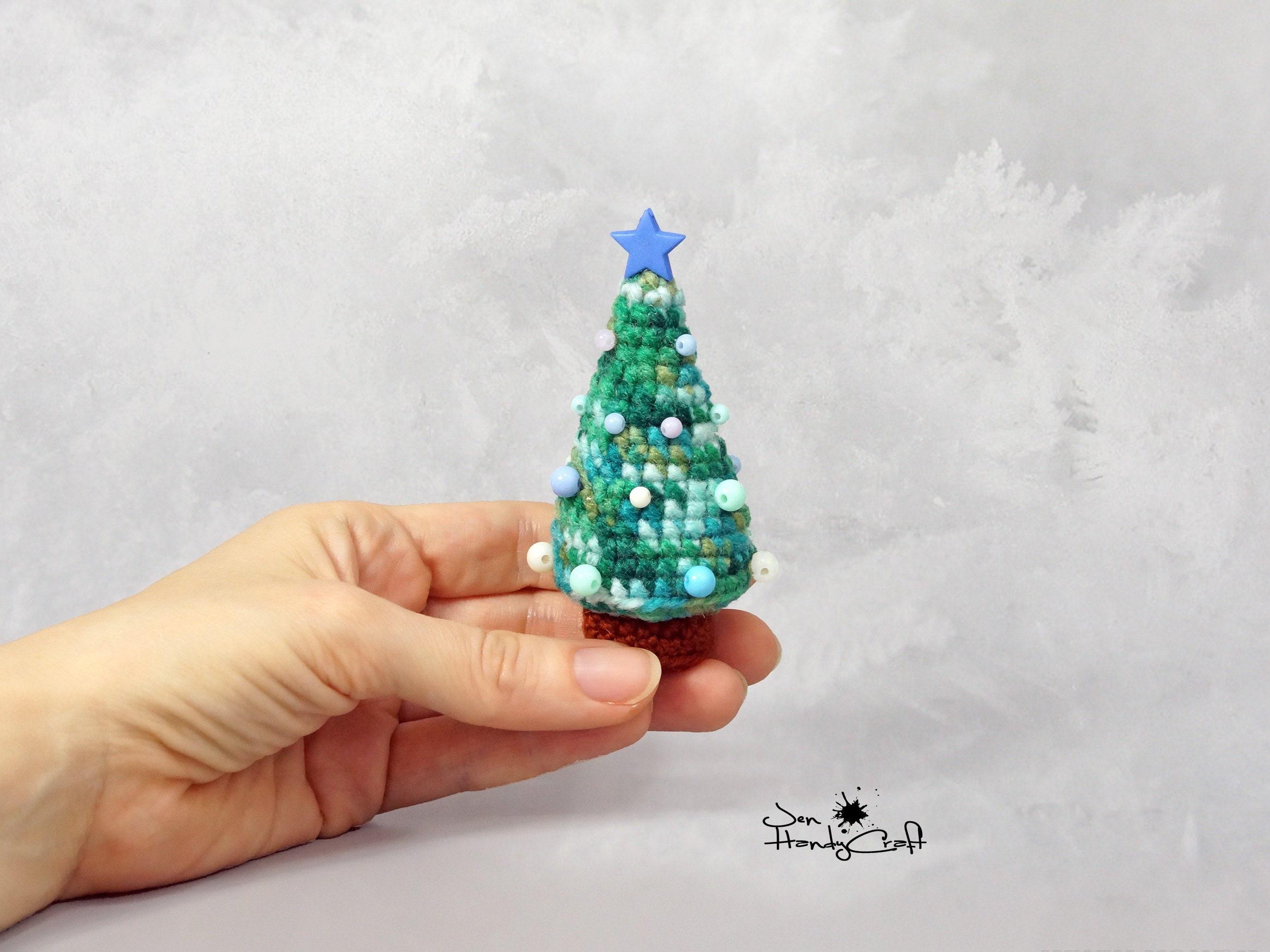 Tiny Stuffed Christmas Tree Xmas Desk Decoration Etsy