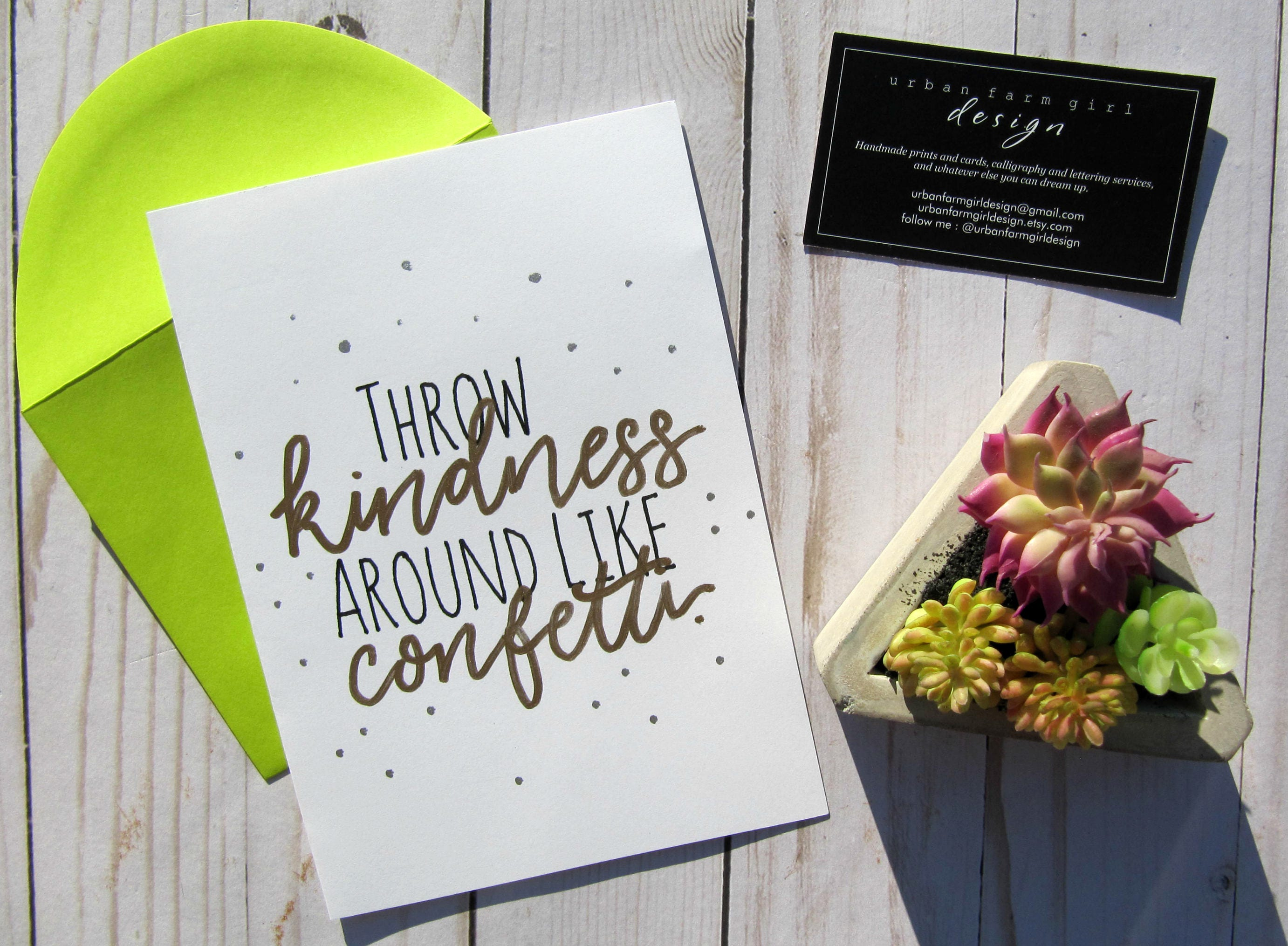 Throw Kindness Around Like Confetti Greeting Card Everyday