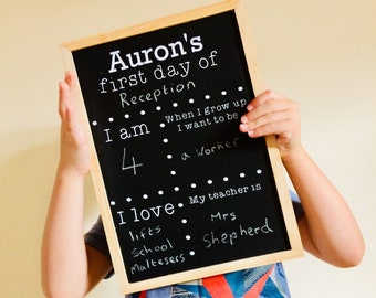 Reusable Back to School Chalkboard Sign - Personalised Back to School Sign - First Day of School - First Day Of Nursery - School Photo Prop