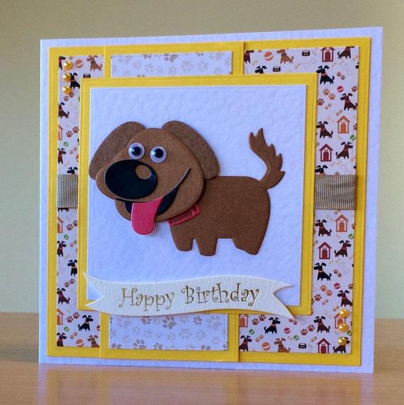 Birthday Card Handmade Cute Dog Cat Bulldog Birthday