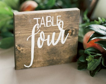 Wedding Table Numbers // Handcrafted Wooden Wedding Signs