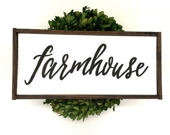 Farmhouse Handcrafted Wooden Sign
