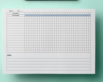 printable habit tracker daily/weekly/monthly/yearly, routine planner, checklist planner, goal tracker checklist