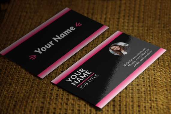 Elegant Business Card Template Pre Made Business Card Design Etsy