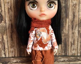 Blythe clothes set Blythe dress set Blythe clothing Blythe wear Blythe outfit custom Blythe ooak custom blythe doll