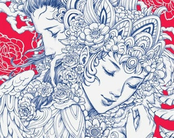 Let's color love coloring poster by Nicholas F. Chandrawienata