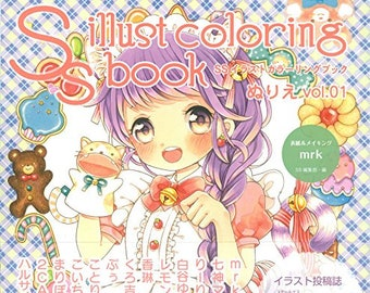 SS Illustration Coloring Book vol.01, Japanese Colouring Book