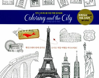 Coloring And The City Book For Adult London Paris Newark Hongkong Travel By Red Whale 9791155780558
