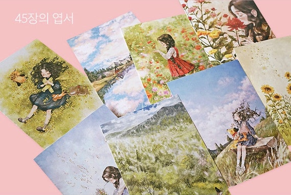 Forest Girls Postcard Book By Aeppol45 Illustrations Postcards 5 Coloring