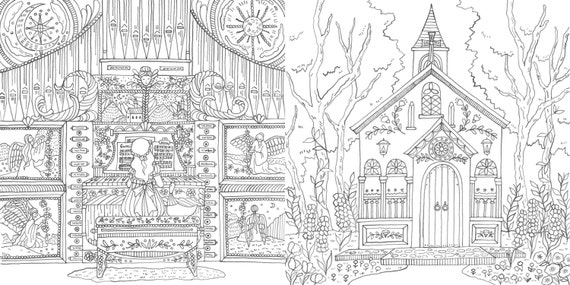 Romantic Country The Second Tale Coloring Book For Adult Etsy