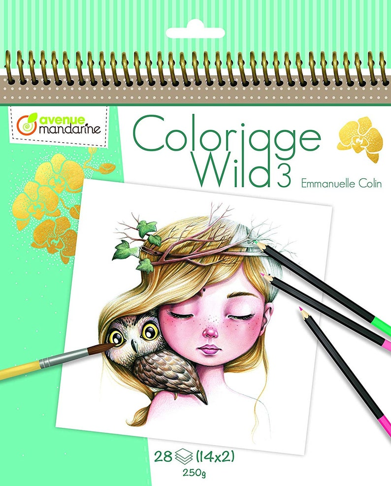 Coloriage Wild 3 Coloring Book By Emmanuelle Colin