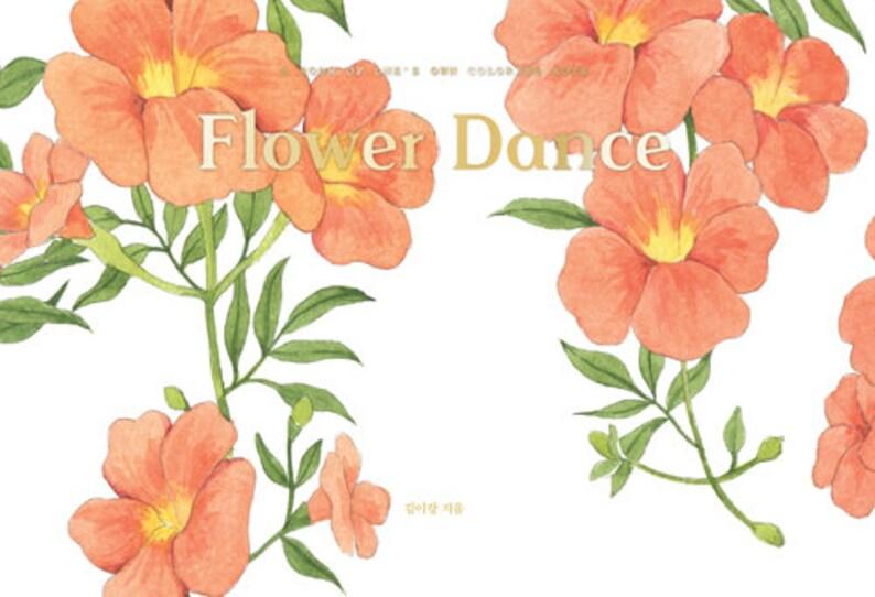 Coloriage Fleur Doranger.Note Danse Aquarelle Coloriage Fleur Livre De Cours Etsy