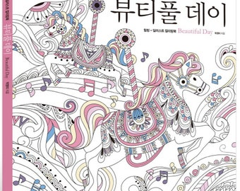 Beautiful Day Illustration Coloring Book For Adult By YoungMi Park