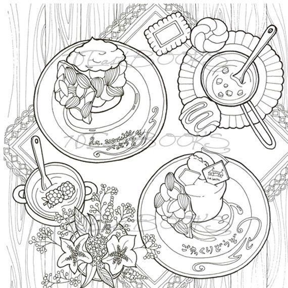 Sweet Sapporo Travel With Genius Duck Coloring Book For Adult Cake Bakery Cookie Shop Colouring