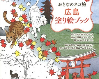 Cats Journey Hiroshima Coloring Book For Adult