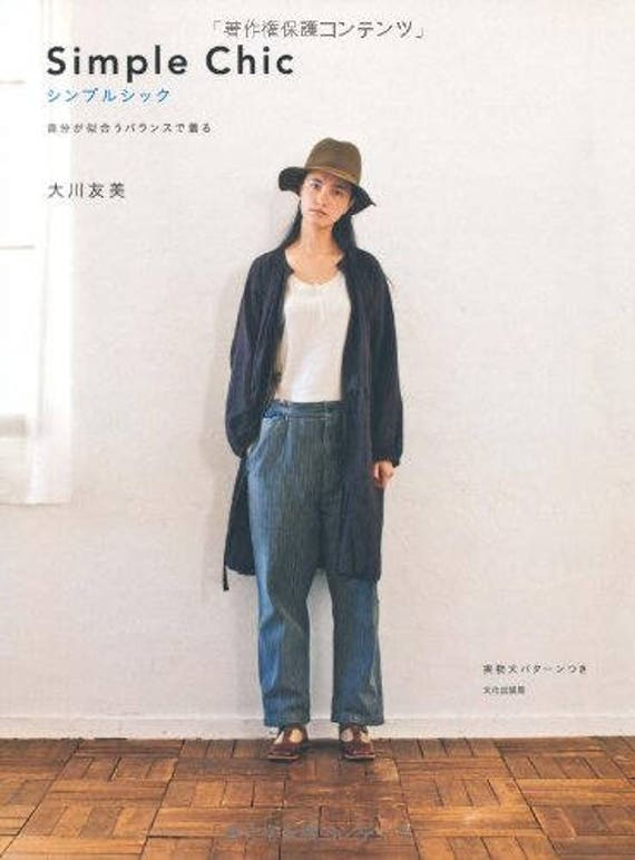 Simple Chic Sewing Patterns Book Japanese Free Size Women Etsy