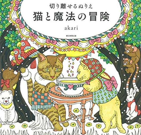 Cat And Magic Of Adventure Akari Coloring Book For Adult