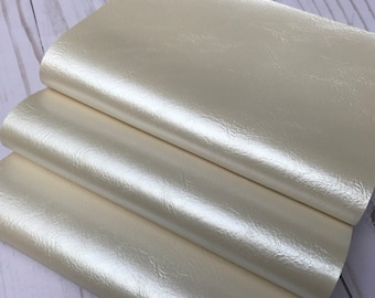 Faux leather sheets. Pearl cream leather sheets. Craft supplies leather supplies. Leather sheets. Diy