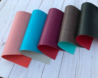 Double sided vinyl leather. Thickness 1.8 mm. Vinyl leather sheeets. Leather sheets craft supplies.