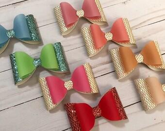 Jelly Glitter Large bow. Baby headbands. Nylon headbands. Baby headbands bows.
