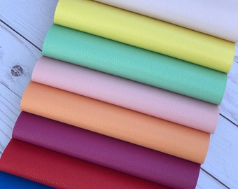 Faux leather sheets, leather sheets faux leather bow supplies craft supplies. 2 sizes 8x11 and 8x5.5 inches diy leather royal blue, peach