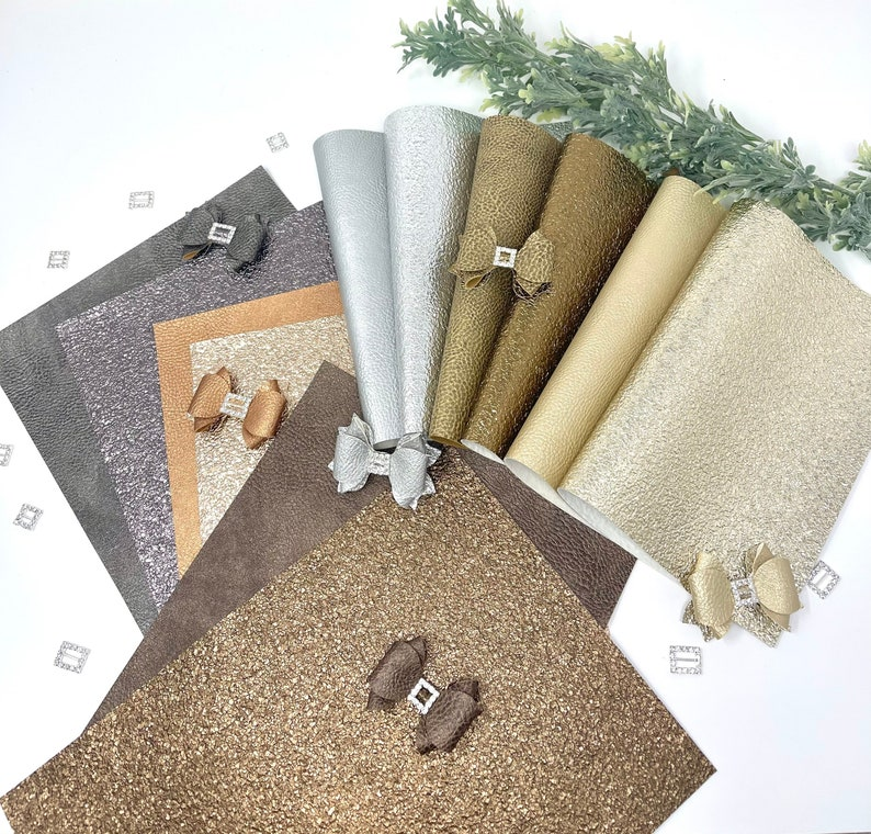 Metallic faux leather sheets. Crackle texture. Texture leather sheet. Craft supplies. Earrings. Hair bows Faux leather. Leather sheets photo