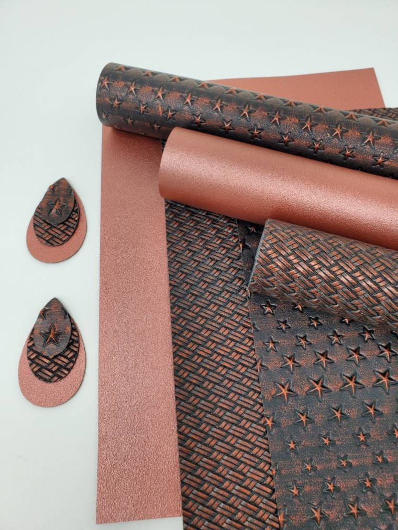 Faux leather sheets. Faux leather. Texture leather sheet. Design leather Craft supplies. Earrings. Hair bows. Leather sheets photo
