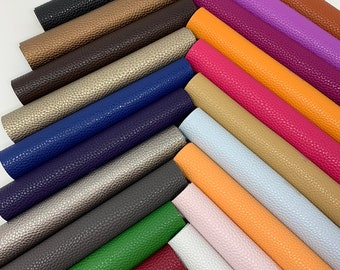 Faux leather sheets. Available in 21 colors. Litchi design Leather sheets. Craft supplies. Leather supplies. Faux leather Litchi Listing S21