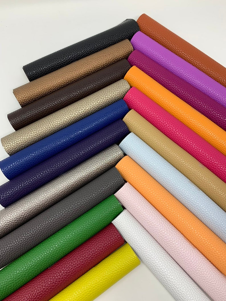 Faux leather sheets. Available in 21 colors. Litchi design Leather sheets. Craft supplies. Leather supplies. Faux leather Litchi Listing S21 photo