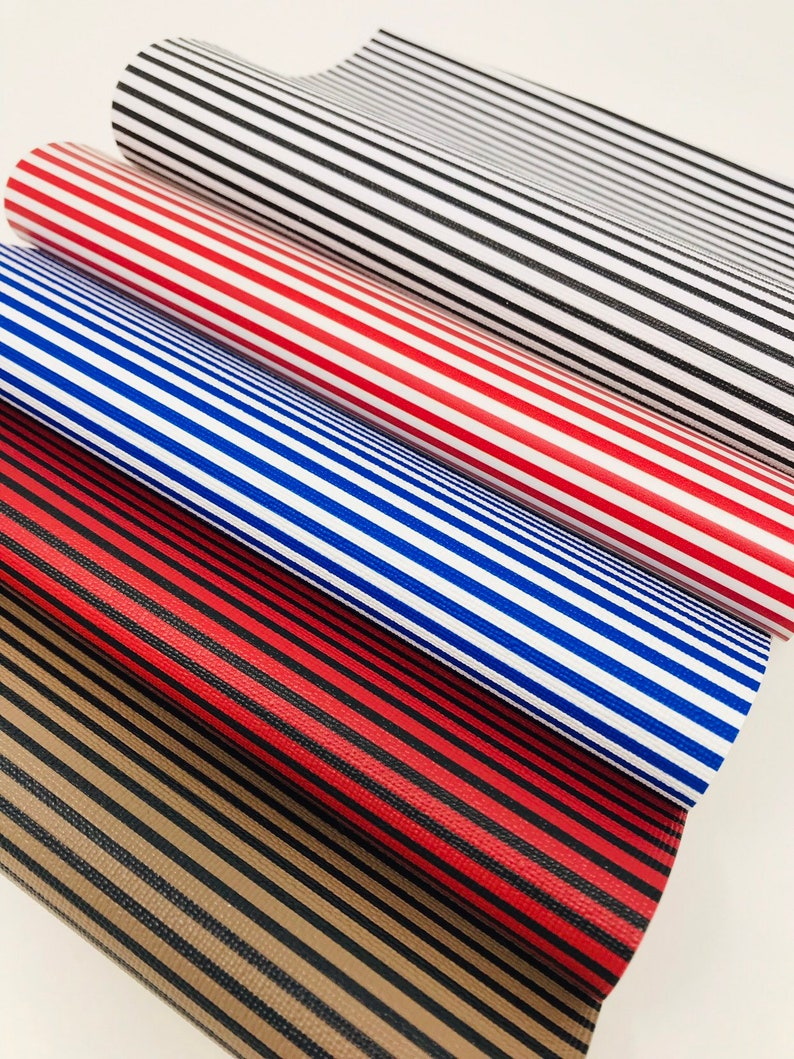SMALL STRIPES pvc leather sheets. Leather sheets. Craft supplies leather supplies diy supplies faux leather photo