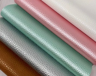 SHINY Litchi design 5 colors, faux leather sheets. Craft and hair bows supplies. Faux leather sheets SL05