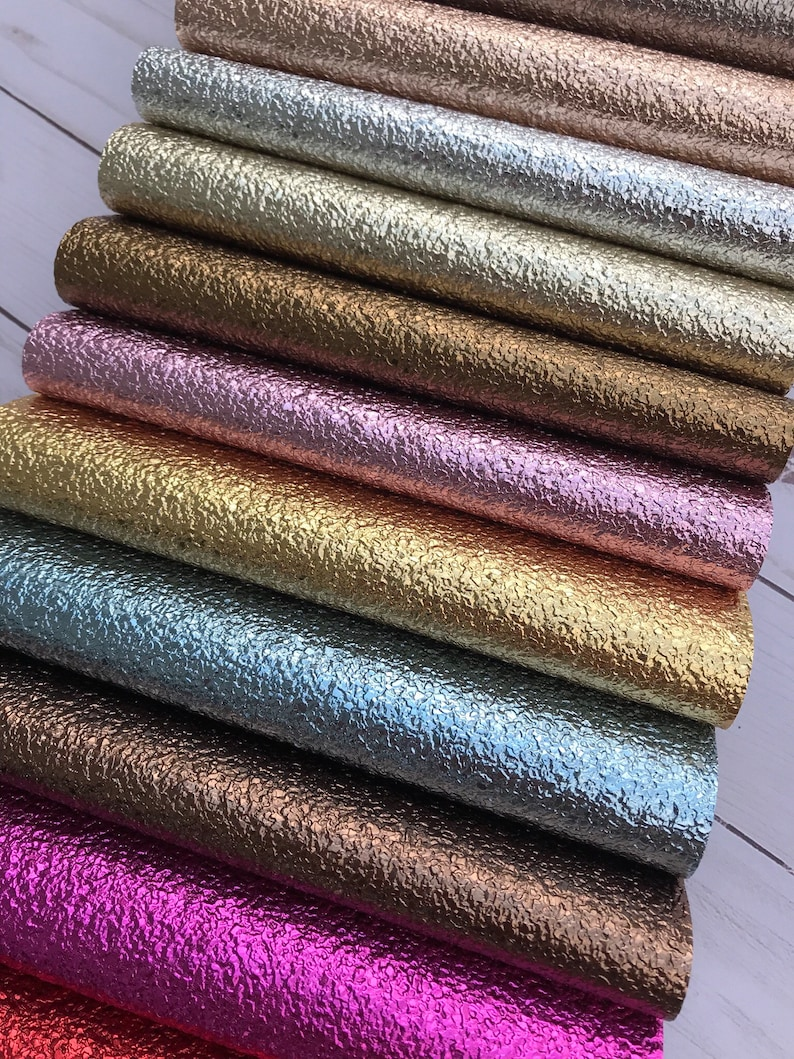 Crackle Texture shiny faux leather sheets. Available in 14 colors. Faux leather craft supplies leather supplies listing NK-HY photo
