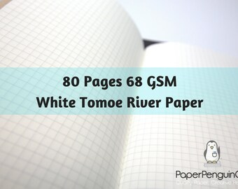ff195cd6e67b 68 gsm Tomoe River Paper 80 Pages Travelers Notebook Midori Insert Bullet  Journal White Traveler s Notebook Midori Notebook
