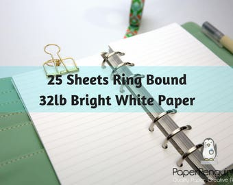 planner inserts 80 sheets white tomoe river paper filofax a5 etsy