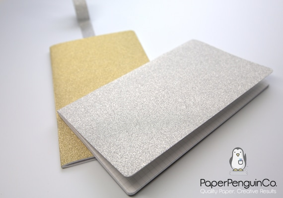 Sparkle Gold Silver Notebook Sparkle Midori Travelers Notebook Bullet Journal Cute Office Supplies Journal Traveler's Dot Grid Notebook