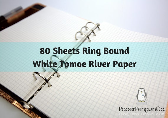 Planner Inserts 80 Sheets White Tomoe River Paper Filofax A5 Planner Inserts Personal Planner Pocket Personal Wide Kikki K Inserts Foxy Fix