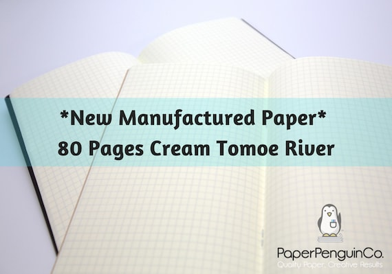 New Manufactured Paper Tomoegawa 52 gsm Cream Tomoe River Paper 80 Page Travelers Notebook
