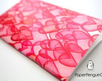 Midori Insert Many Hearts Traveler's Notebook Regular Standard A5 Wide B6 Personal A6 Pocket Field Notes Passport Mini Micro