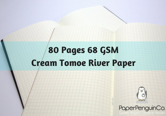 68 gsm Cream Tomoe River Paper 80 Pages Travelers Notebook Midori Insert Bullet Journal Cream Traveler's Notebook Midori Notebook