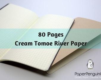 Tomoe River Paper 80 Pages Cream Tomoe River Travelers Notebook Black Brown Regular A5 Wide B6 Personal A6 Pocket FN Passport Mini Midori