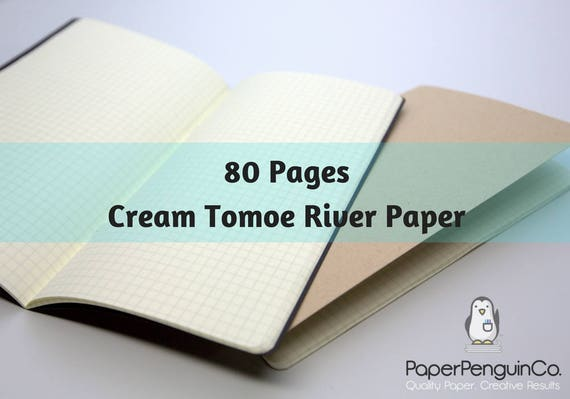 Tomoe River Paper 80 Pages Travelers Notebook Midori Insert Bullet Journal 52 gsm Cream Traveler's Notebook Midori Notebook