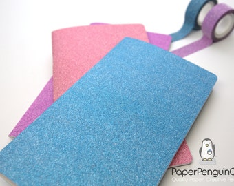 Midori Insert Sparkle Blue Purple Pink Travelers Notebook Regular Wide B6 Personal A6 Pocket Field Notes Passport Mini / Grid Dots Lined