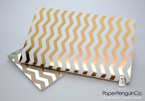 Midori Insert Foil Chevron White Gold Rose Gold Silver Travelers Notebook Standard Regular A5 Wide B6 Personal A6 Pocket Passport Micro Mini