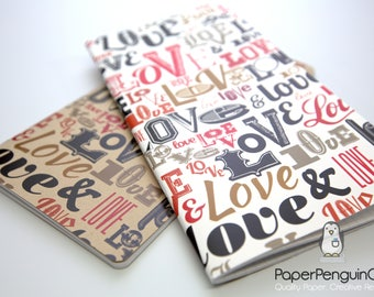 Midori Insert Love Words Travelers Notebook Regular A5 Wide B6 Personal A6 Pocket Field Notes Passport Mini/Grid Dots Lined/Bullet Journal