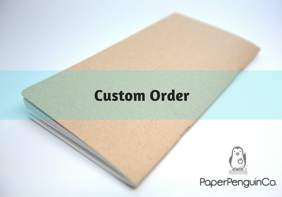 Custom Order: B6 Tomoe River White 2022 Monthly Plain Calendar Sun Lined Pages 40 Pg Black Cover