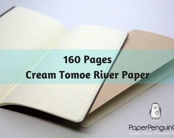 Tomoe River Paper 160 Pages Cream Tomoe River Travelers Notebook Black Brown Regular A5 Wide B6 Personal A6 Pocket FN Passport Mini Midori